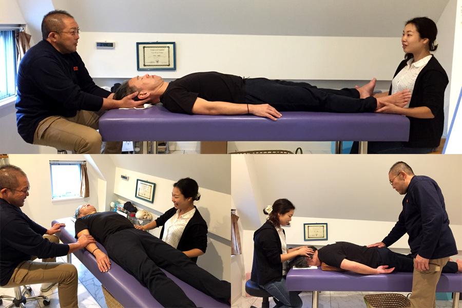 今月のクレニオセラピー塾☆体のリズムを読み取り、静止点を誘導!