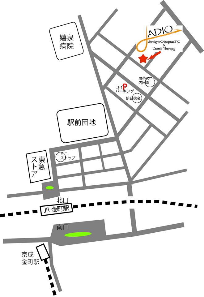 ADIO アクセスマップ